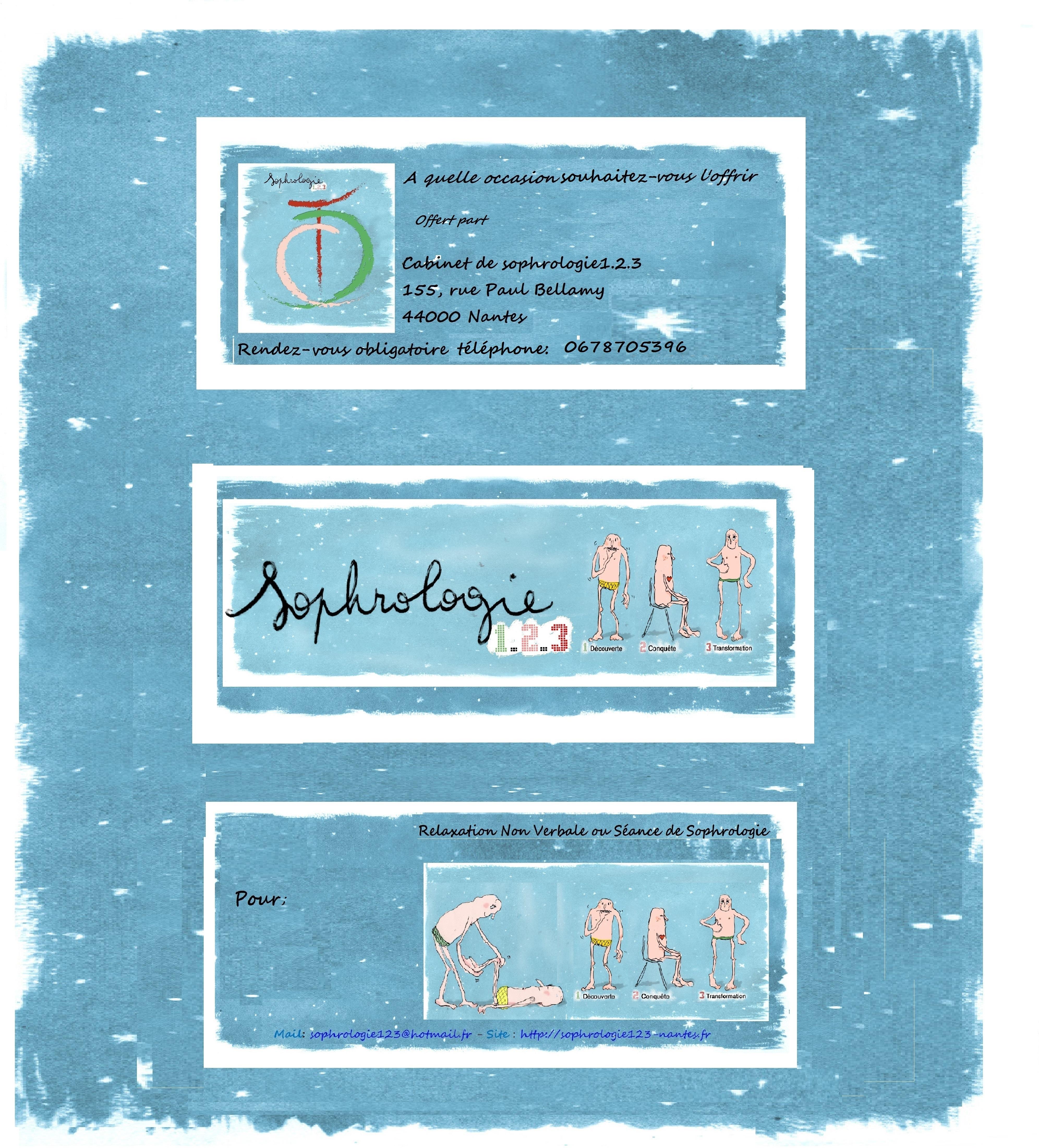 Chèque cadeau sophrologie